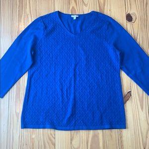 Talbots Blue V Neck Sweater